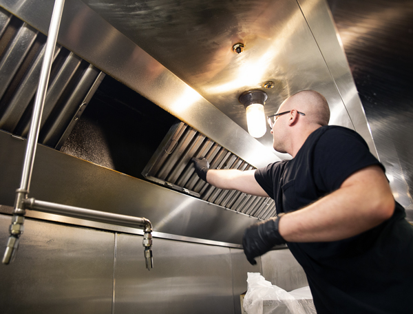 Tech Performing Kitchen Exhaust Cleaning